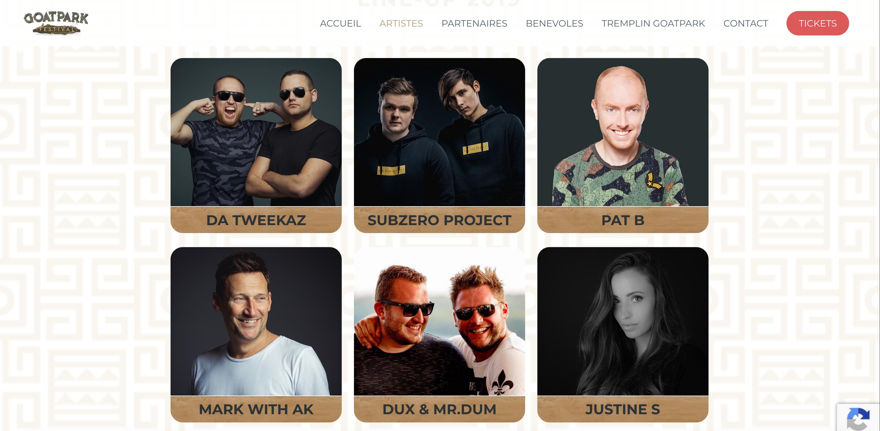 Duoplus - site web goatpark festival